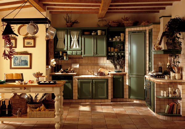 Cucina alice cucine country in castagno for Arredamento country roma