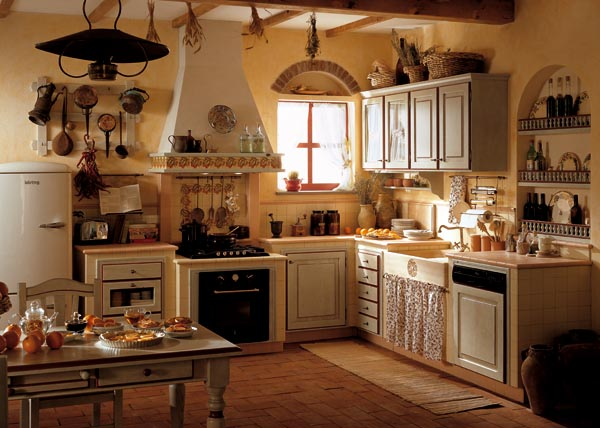 Cucina Muratura on Pinterest  Rustic Kitchens, Pantry Doors and Ios